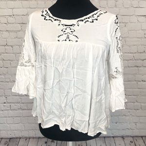 EN CRÈME white boho blouse
